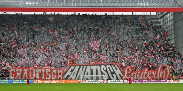 The FCK Westkurve ist one of the wildest and craziest fan sections in German soccer